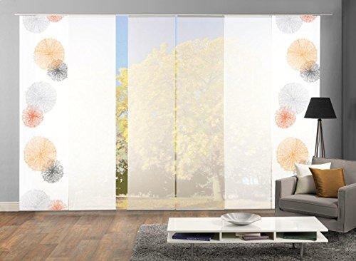 Home Fashion Set-Angebot Schiebegardinen Rawlins (SCOPPIO), Set-Größen, inkl. hochwertigem Zubehör (6, orange, 96999)