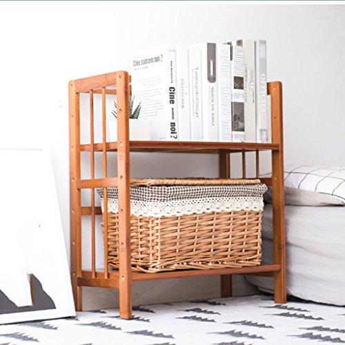 Organisieren Speicherschränke, Schreibtisch Holz Moderne Bücherregal Studentenwohnheim Mehrstöckige Regale Einfache Bücherregale (größe : 50cm)