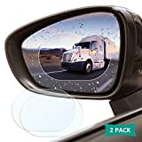 Car Rearview Mirror Protective Film, 2 Pack ACETEND Waterproof Rainproof Rear View Mirror Film - Suitable for All Automobile & Vehicle Models