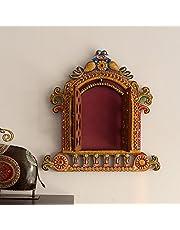 eCraftIndia Decorative Papier-Mache Wooden Jharokha Wall Hanging