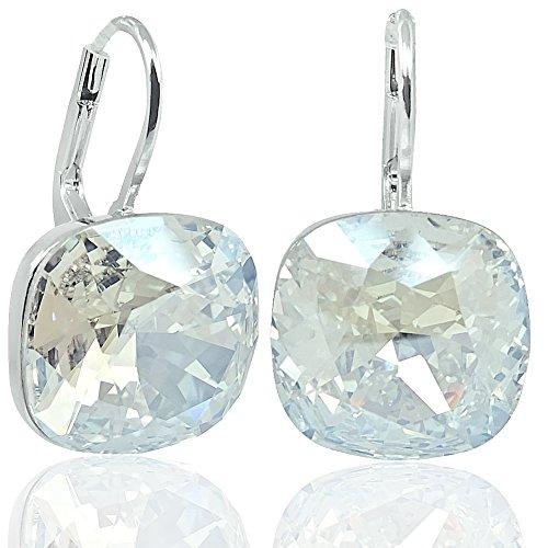 Ohrringe mit Kristalle von Swarovski® Silber Damen-Ohrhänger NOBEL SCHMUCK - Große Schmuck