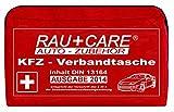 RAU EH0004 KFZ-Verbandtasche, Inhalt nach DIN 13164 (§35H StVZO), Rot