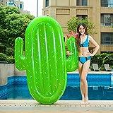 SanXingRui Cactus Gonfiabile Piscina Galleggianti Raft, Gigante Piscina Galleggiante Materasso per Bambini e Adulti (Verde-D)