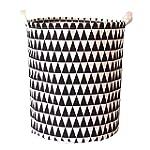 AUFODARA Round Storage Cube Basket wi...