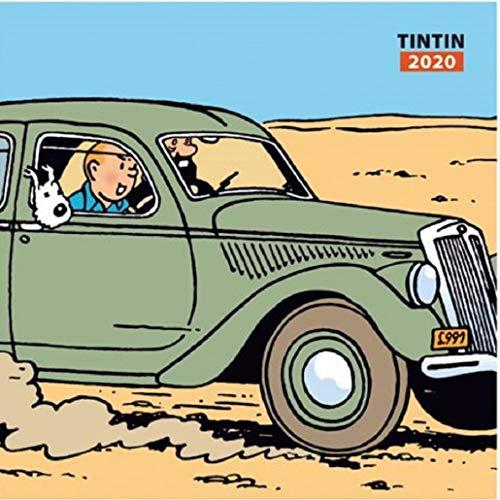 Moulinsart 2020 Wall Calendar Tintin and Cars 30x30cm (24434)