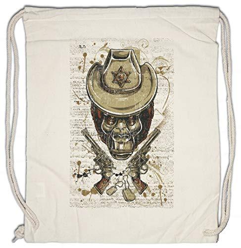 Urban Backwoods Ape Sheriff Hipster Bag Beutel Stofftasche Einkaufstasche - Hüte Urban Cowboy Hüte