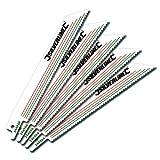 Silverline 244966 Recip Saw Blades, 10 tpi Bi-Metal 150 mm - Pack of 5