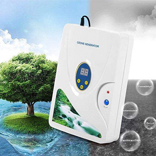 Buy Water Purifier Ozone Generator Hug Flight® Cycle 600mg/h Digital Air  Purifier Plug-In Kill Odor Smell Remover Sterilizer Anion Ion Ozonizer For