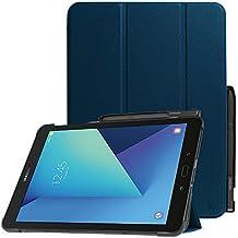 Fintie Galaxy Tab S3 9.7 Funda - Súper Delgada y Ligera Case Cover Carcasa con Stand Soporte Función de S Pen y Auto-Sueño / Estela para Samsung Galaxy Tab S3 9.7 T820 / T825 2017, Azul Oscuro