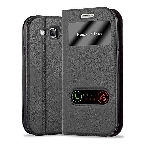 Cadorabo Custodia Libro per Samsung Galaxy S3 / S3 Neo in Nero COMETA – con Funzione Stand e Chiusura Magnetica – Portafoglio Cover Case Wallet Book Etui Protezione