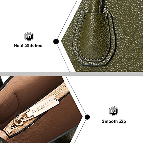 Yoome Top Handle Bags Vintage Girls Borse per frizione Bulk con Strap New Chic Crossbody Borsa - Verde Blu