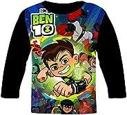 Zallabo B-en-10 - T-shirt a maniche lunghe 3D con grafica a maniche lunghe, per ragazze e ragazzi