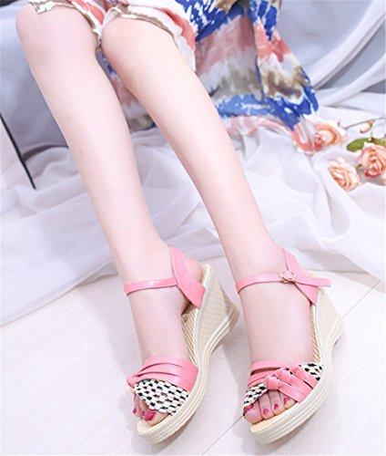 Wealsex damen sandalen Pink