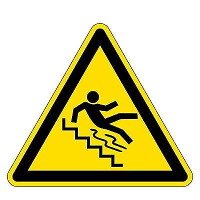 Warnzeichen - Vorsicht Treppe - Aluminium