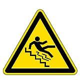 Warnzeichen - Vorsicht Treppe - Aluminium - 20 x 20 cm