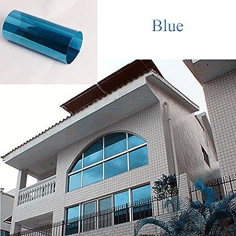 [Hoho] Bleu Argent film teinté pour vitre de fenêtre de pare-soleil film réfléchissant film solaire, 152cm*50cm / 60*20 inches