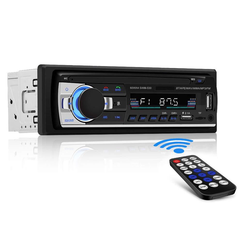 [Nuevo Version] Andven Autoradio Bluetooth, 4×60W FM Radio de Coche, Manos Libres Radio Estéreo de Coche, Apoyo Control Remoto, Doble USB, TF, función AUX