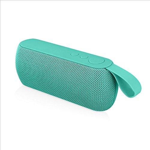Lautsprecherboxen Bluetooth Lautsprecher Portable Intelligenz Wireless Lautsprecher Subwoofer (18.8 Cm * 6.8 Cm * 5.0 Cm) ( Color : Green ) (Galaxy Player 5 Akku)