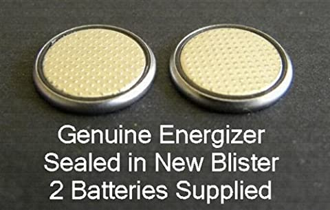 Deux (2) x Energizer CR1632Lot de piles bouton au lithium 3V emballées sous blister
