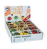 Small Foot 10701 Kompass aus Holz im Tierdesign, Kleine Schnur zum Sicheren Befestigen An Handgelenk oder Taschen, Ideal auch für Unterwegs