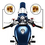 Autofy Brass Motorcycle HandleBar End Weights for Royal Enfield All Models and All Other Bikes (Set of 2,Gold)