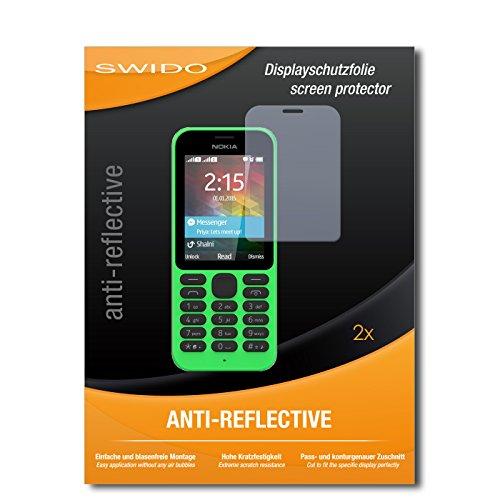 SWIDO Schutzfolie für Microsoft Nokia 215 [2 Stück] Anti-Reflex MATT Entspiegelnd, Hoher Härtegrad, Schutz vor Kratzer/Bildschirmschutz, Bildschirmschutzfolie, Panzerglas-Folie