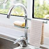 Broadroot Wasserhahn Waschbecken Hängen Lagerregal Schwamm Geschirrtuch Handtuchhalter Ablaufregal Bad Küche Organizer (02)