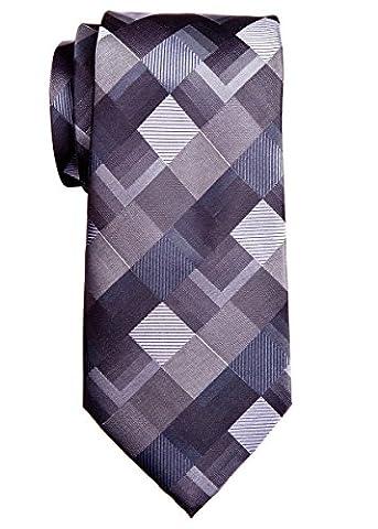 Retreez Vintage Motif géométrique 8cm de cravate en microfibre tissé–6couleurs