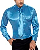 Hawkins & Jenkins Men's Regular Fit Classic Long Sleeve Casual Satin Shirt XXXL