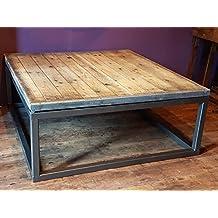 table basse bois metal industriel. Black Bedroom Furniture Sets. Home Design Ideas
