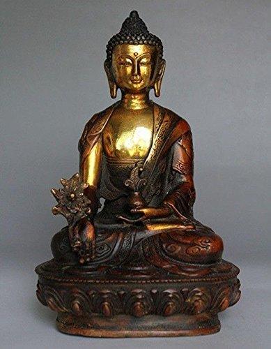 Sakyamuni Buddha-statue (20,3cm Tibetische Messing Buddhismus Bodhisattva Sakyamuni Buddha Statue Home Dekoration)