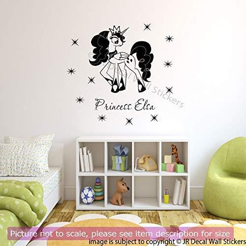 Mein kleines Pony Prinzessin Ihre Mädchen Name Vinyl Wandkunst Aufkleber Schlafzimmer Aufkleber abnehmbare Vinyl Wandtattoos D2 (Vinyl Decal Pinkie Pie)
