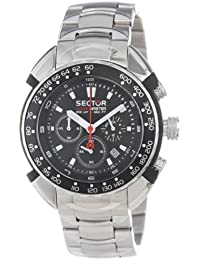 Sector Shark Master Men's Watch Chronograph with Black Dial and Stainless Steel Bracelet - R3273678025