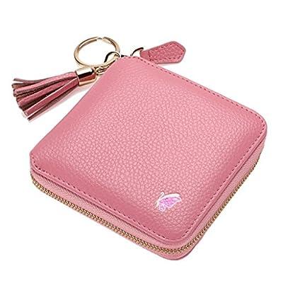 ZLR Mme portefeuille Porte-monnaie en cuir en cuir à dosier
