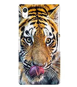 For Sony Xperia Z2 dagerous tiger ( tiger, cute tiger, nice tiger, dagerous tiger, lion ) Printed Designer Back Case Cover By Living Fill