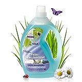 HAKA Feinwaschmittel I 2 Liter I Flüssigwaschmittel für Feines und Buntes I 66 Wäschen I Umweltfreundliches Waschmittel für Seide & Dunkle Wäsche