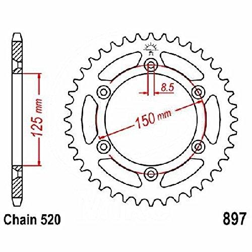 Preisvergleich Produktbild jtSprockets Kettenrad KTM EXC-F i.e.4T 2011-2015 51 Zähne 520 JTR897.51