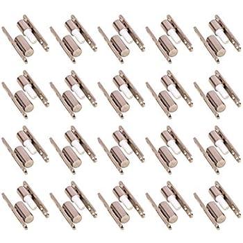 Gedotec Charni/ères pour Portes Int/érieures en Bois Trou de Forage de 3mm 15mm x 83mm 1 Pi/èce Paumelle /à Vis en Acier Nickel/é Installation Facile et Sans Entretien Tige de 15mm