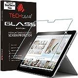TECHGEAR® Verre Trempé pour Surface Go, Protecteur d'Écran Original en Verre Trempé Compatible pour Microsoft Surface Go