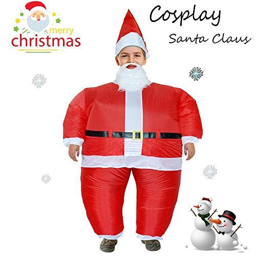 Wokee Kids Inflatable,Party Uniformen Aufblasbare Karneval Lustige Kostüme Weihnachtsmann Kinder Cosplay Movie ()
