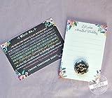 Trauzeugin fragen Geschenk Karte mit Button und Hochzeitsplanung Block A6 für die Trauzeugin Willst du meine Trauzeugin sein beste Freundin Blumen