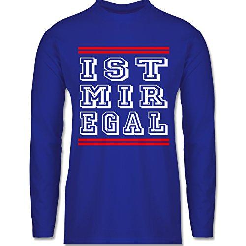 Statement Shirts - IST MIR EGAL - Longsleeve / langärmeliges T-Shirt für Herren Royalblau