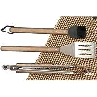 Kit de utensilios para barbacoa Over Pro Chef Espresso CC1000 de Charcoal Companion (3 piezas)