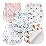Paños Para Bebés Paños Para Niños Eructo 5 Unidades Baberos de Bebé, Triple Capa, 100% algodón orgánico, grueso, suave y absorbente, para recién nacidos, para regalo de ducha de bebé