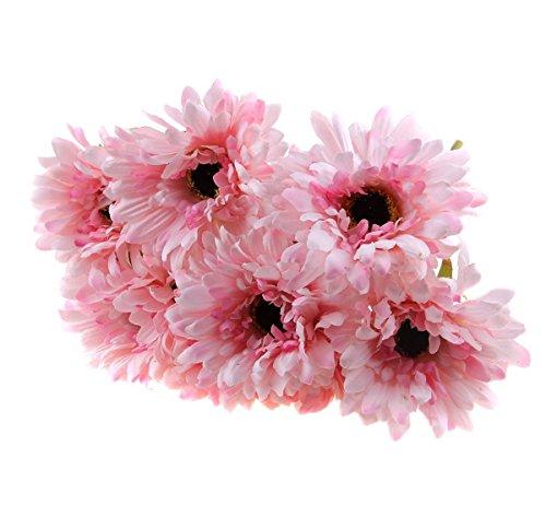 Galleria fotografica TINNINA 10 pezzi artificiali Margherita fiore del Crisantemo Girasoli per la decorazione domestica nozze mazzi Rosa