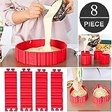 Tortenring Verstellbar, Bake Snake, kuchenform Silikon, silikon form, Backform, Fondant Zubehör, Cake Mould, DIY eine Vielzahl von Formen