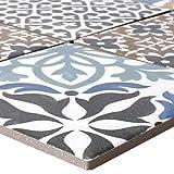 Mosaikfliesen Keramik Campeche Zementoptik | Wandverkleidung Badfliesen Bad Mosaikstein Fliesen Vintage Dekorative Fliesen Fliesenspiegel Wandgestaltung