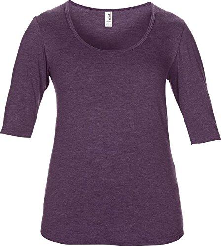 Amboss Damen Tri Blend Deep Scoop 1/2Sleeve Tee Damen Semi ausgestattet Casual Top (Top Scoop Deep Neck)