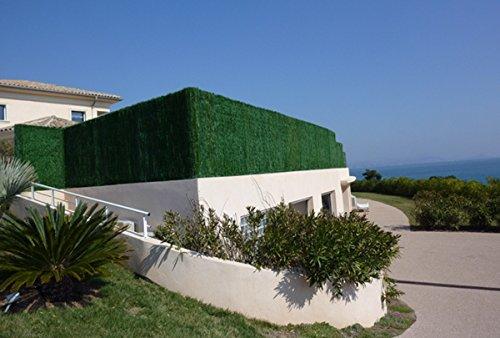 Haie artificielle / Brise vue 110 Brins en PVC coloris vert pin, 2,00 m x 3 m -PEGANE-