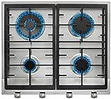 Teka EX 60 1 4G AI AL DR NAT Integrado Encimera de gas Acero inoxidable - Placa (Integrado, Encimera de gas, Hierro fundido, Acero inoxidable, hierro fundido, 1000 W)